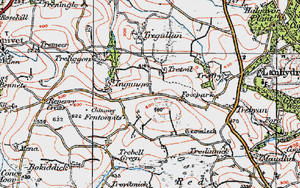 Old map of Fenton Pits in 1919