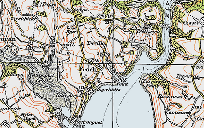 Old map of Feock in 1919