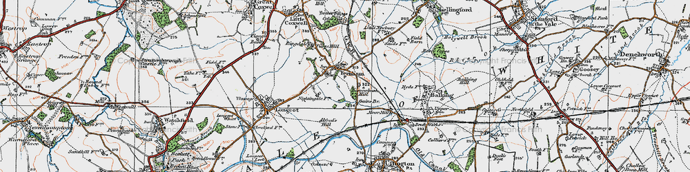 Old map of Alfred's Hill in 1919