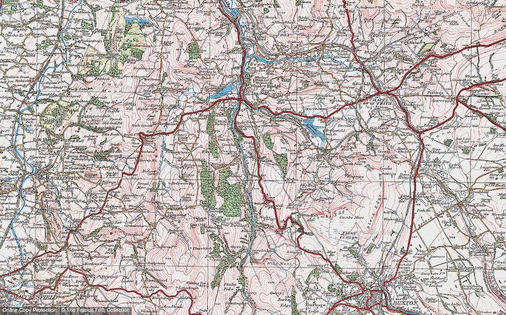 Old Map of Fernilee, 1923 in 1923