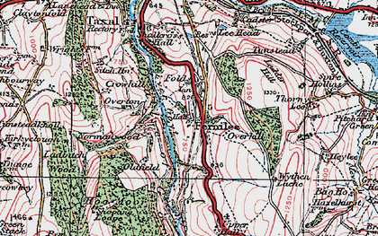 Old map of Wythen Lache in 1923