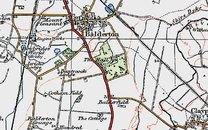 Old map of Balderfield in 1921