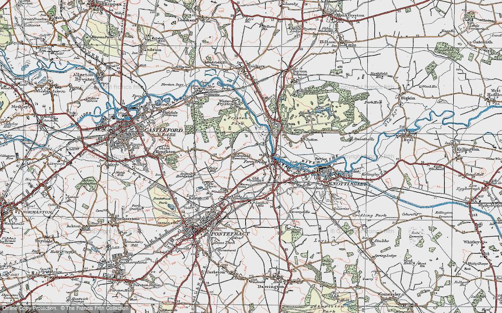 Old Map of Ferrybridge, 1925 in 1925
