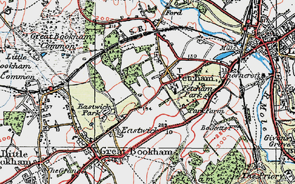 Old map of Fetcham in 1920
