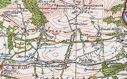 Old map of Ton Philip in 1922