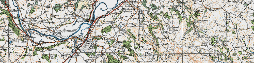Old map of Allt Wood in 1919