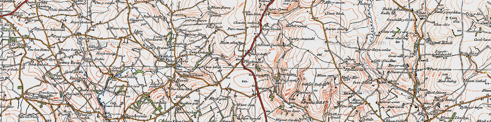 Old map of Wstrws in 1923