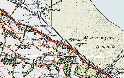 Old map of Ffynnongroyw in 1924