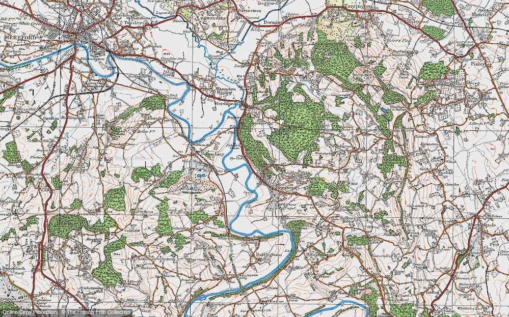 Old Map of Historic Map covering Wood View in 1920