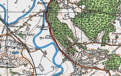 Old map of Wood View in 1920