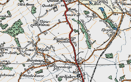 Old map of Lemore Manor in 1919