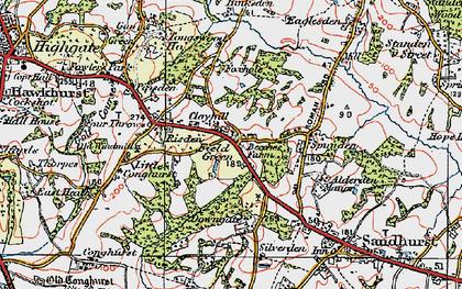 Old map of Alderden Manor in 1921