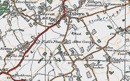 Old map of Alton Cross in 1920