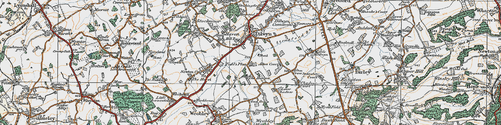 Old map of Alton Court in 1920