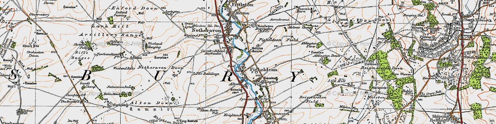 Old map of Ablington Furze in 1919