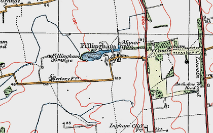 Old map of Ancholme Head in 1923