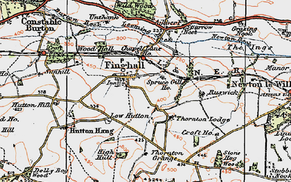 Old map of Akebar Cotts in 1925