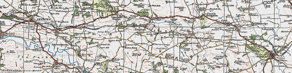 Old map of Leeming Beck in 1925