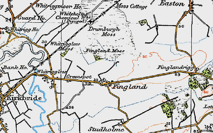 Old map of Whitrigglees in 1925