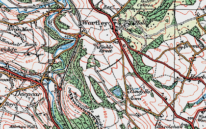 Old map of Wharncliffe Resr in 1924