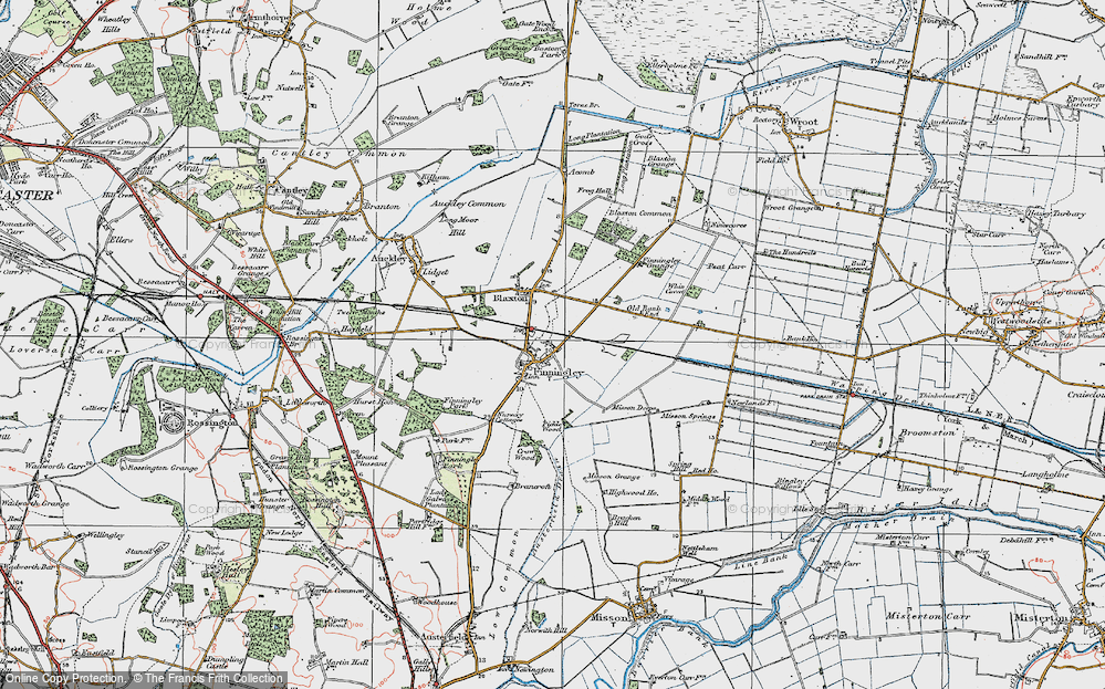 Old Map of Finningley, 1923 in 1923