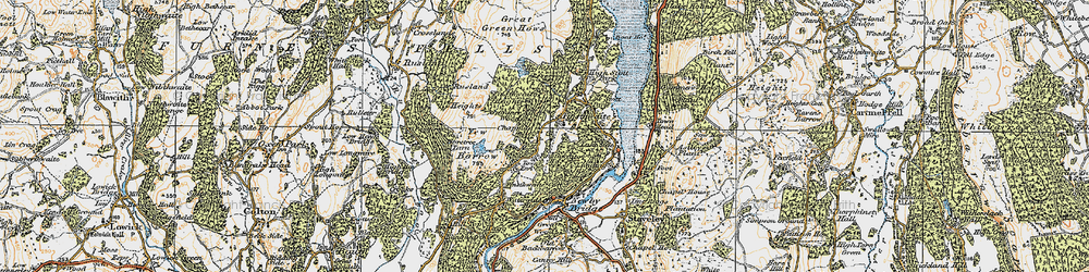 Old map of Yew Barrow in 1925