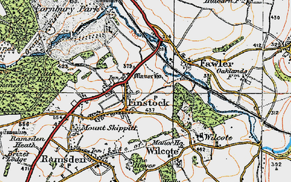 Old map of Wilcote Grange in 1919