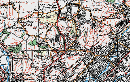 Old map of Fir Vale in 1923