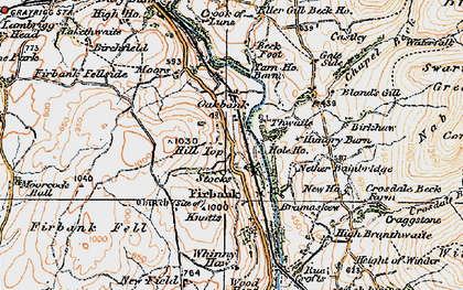 Old map of Whinny Haw in 1925
