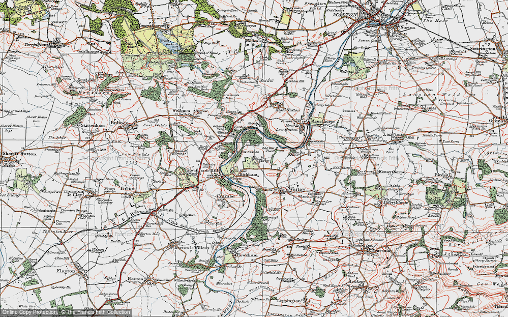 Old Map of Historic Map covering Badger Bank in 1924
