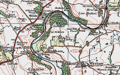 Old map of Badger Bank in 1924