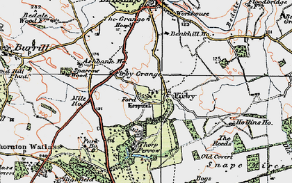 Old map of Banks Plantn in 1925