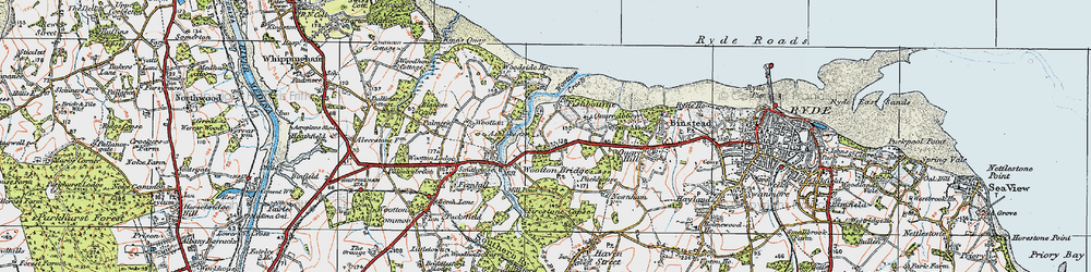 Old map of Wootton Creek in 1919