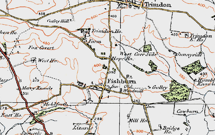 Old map of Weterton Ho in 1925