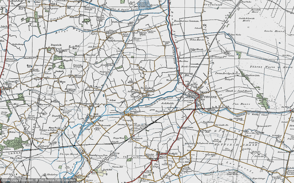 Old Map of Historic Map covering Ashfields in 1923