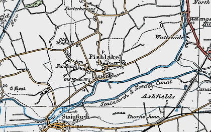 Old map of Ashfields in 1923