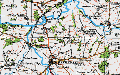 Old map of Lewer in 1919