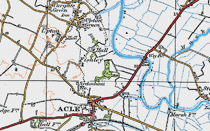 Old map of Acle Br in 1922