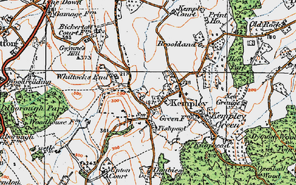 Old map of Whittocks End in 1919