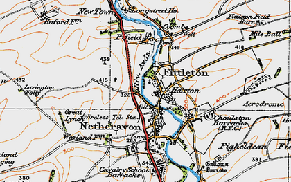 Old map of Airfield Camp Netheravon in 1919