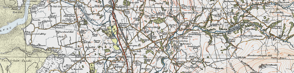 Old map of Anyon Ho in 1924