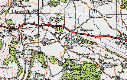 Old map of Woodcock Hill in 1919