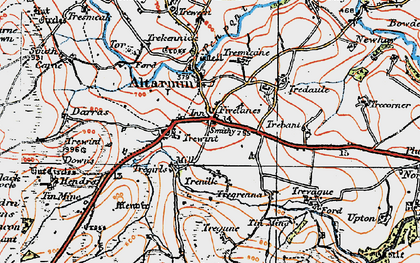 Old map of Fivelanes in 1919