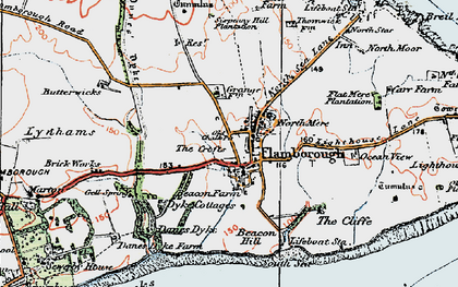 Old map of Flamborough in 1924