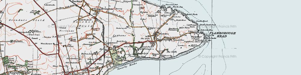 Old map of Flamborough in 1924