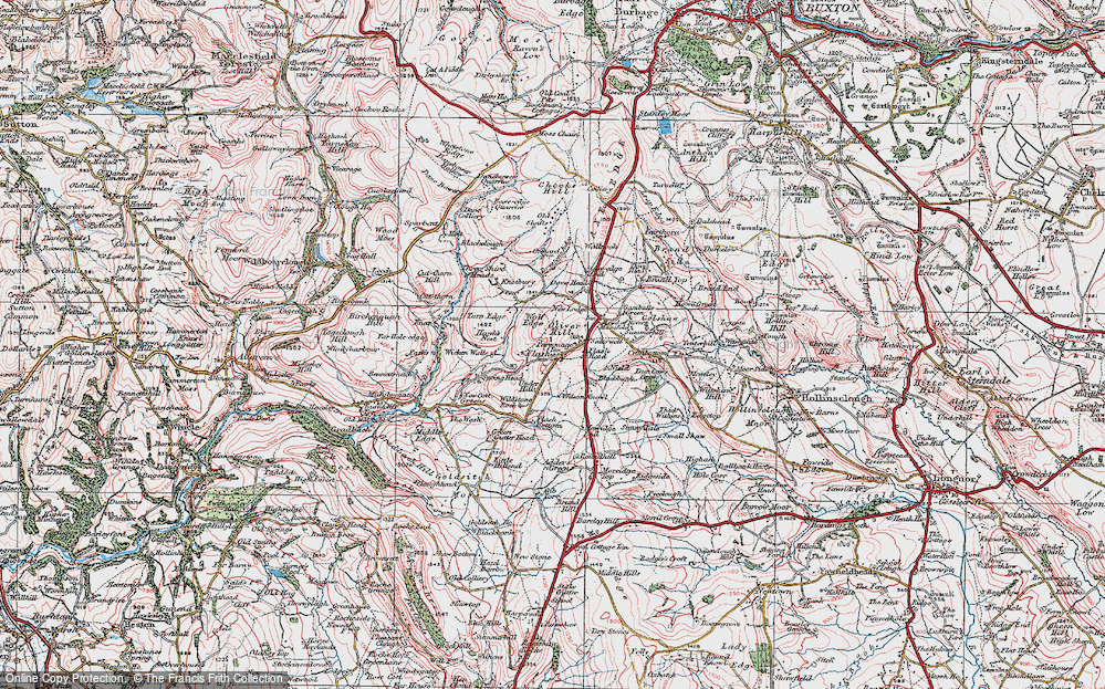 Old Map of Historic Map covering Adder's Green in 1923