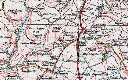 Old map of Adder's Green in 1923