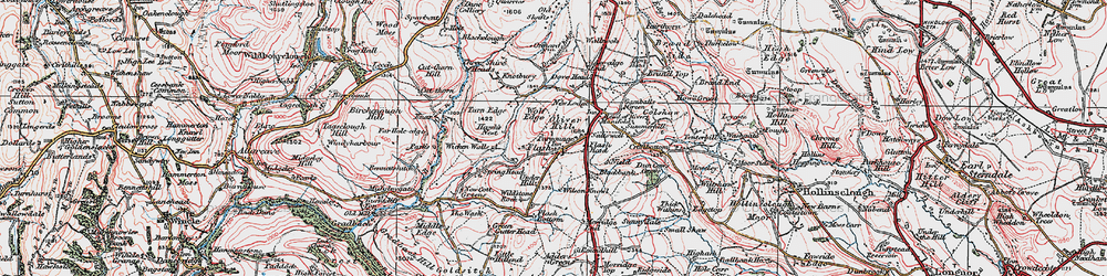 Old map of Wildstone Rock in 1923