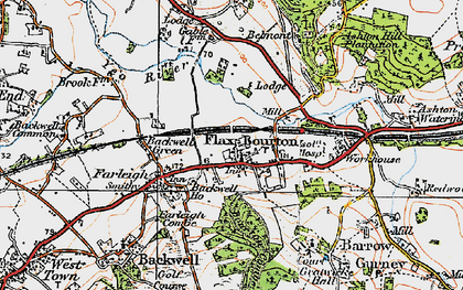 Old map of Backwell Ho in 1919