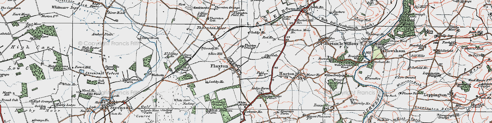 Old map of Wilks Plantn in 1924